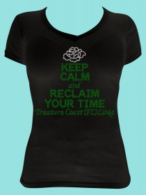 Keep Calm and Regain Your Time Rhinestone Tee