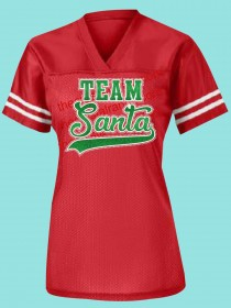 Team Santa Rhinestone and Glitter Tee THV053