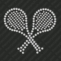 DS090 Tennis Racquets Rhinestone Decal