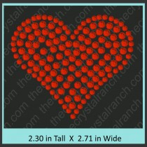 Heart Rhinestone Transfer CRY012