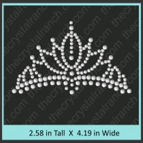 Crown Rhinestone Transfer CRY020c