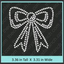 Bow Rhinestone Transfer CRY027c