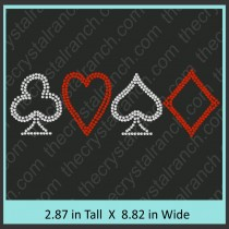 Card Symbol Rhinestone Transfer CRY034ck