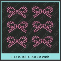 Bow Rhinestone Transfer CRY036c