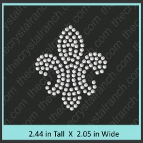 Fleur de lis Filled Rhinestone Transfer CRY039