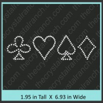 Card Symbols Rhinestone Transfer CRY040c