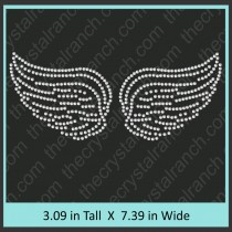 Wings Rhinestone Transfer CRY041c
