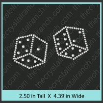 Dice Rhinestone Transfer CRY049c