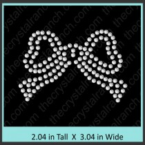 Bow Rhinestone Transfer CRY148c