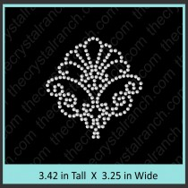 Shell Rhinestone Transfer CRY151c