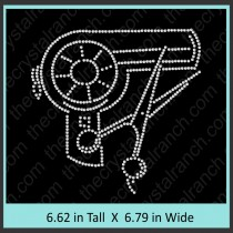 Blow Dryer Rhinestone Transfer CRY162