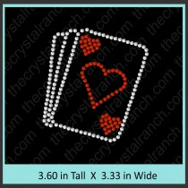 Cards Rhinestone Transfer CRY186ck