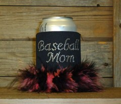 Baseball Mom Rhinestone Drink Koozie KS088