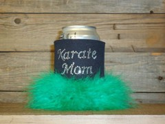 Karate Mom Rhinestone Drink Koozie KS051
