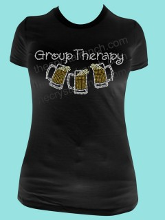 Group Therapy Beer Rhinestone Tee TB029