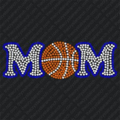 D007 Basketball Mom Rhinestone Decal