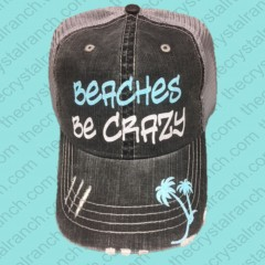 Beaches Be Crazy Glitter Cap CGB003
