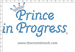 Prince in Progress Rhinestone Transfer CRF005