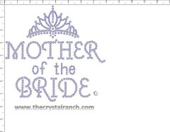 Mother of the Bride tiara Rhinestone Transfer CRF036