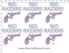 Red Raiders - Petite (6) Rhinestone Transfer CRK039cs