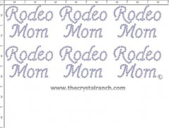 Rodeo Mom - Petite (6) Rhinestone Transfer CRK054