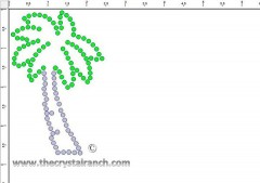 Palm Trees Rhinestone Transfer CRY121c