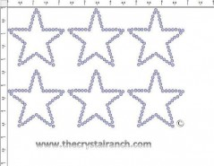 Star Outline Rhinestone Transfer CRY179c