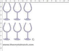 Wine Glass Rhinestone Transfer CRY203c