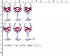 Wine Glass Rhinestone Transfer CRY204
