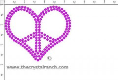 Peace Heart 3in Transfer CRY227