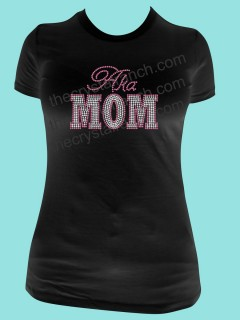 AKA Mom Rhinestone Tee TF062