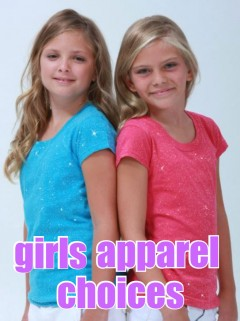 Girls Blank Apparel Options