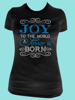 Joy to the World Rhinestone Tee TH140