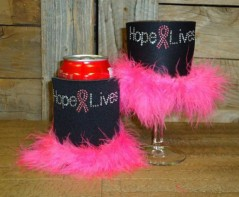 Hope Lives Rhinestone Drink Koozie KG138
