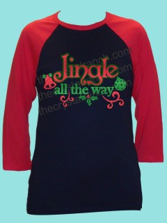 Jingle All the Way Rhinestone and Glitter Tee THV003