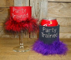 Party Trained Rhinestone Drink Koozie KB021