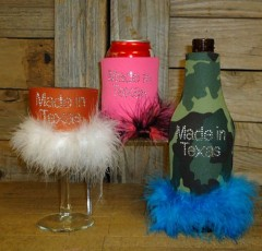 Made in Texas Rhinestone Drink Koozie KR135