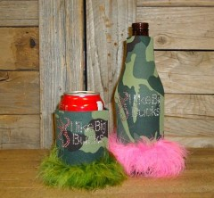 I Like Big Bucks Rhinestone Drink Koozie KR148