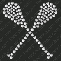 DS227 Lacrosse Rhinestone Decal
