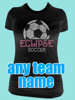 YOUR SOCCER TEAM Custom Rhinestone Tee TP007
