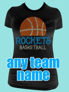 Your Basketball Team Rhinestone Tee TP038