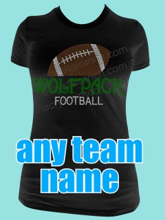 YOUR FOOTBALL TEAM Custom Rhinestone Tee TP042