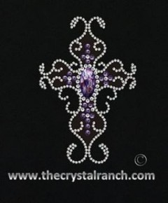 DYH1607 Cross Rhinestone Decal