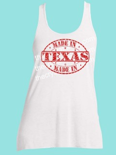 Made in Texas Rhinestone and Screen Print Tee TRS014