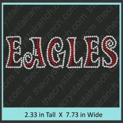 Eagles Rhinestone Transfer CRT137