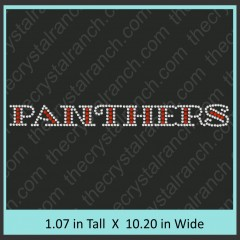 Panthers Rhinestone Transfer CRT189