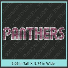 Panthers Rhinestone Transfer CRT310