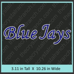 Blue Jays Rhinestone Transfer CRT336