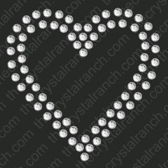 DY223 Heart Rhinestone Decal